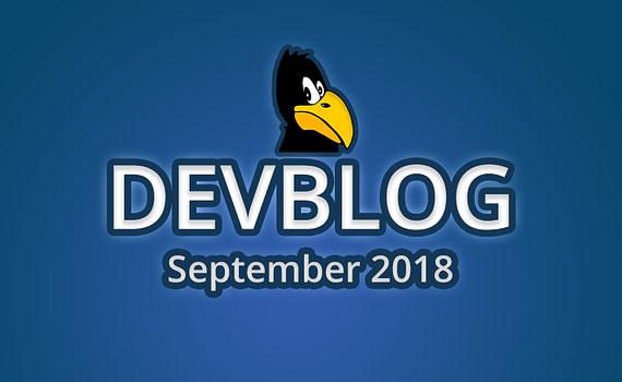 Devblog September 2018